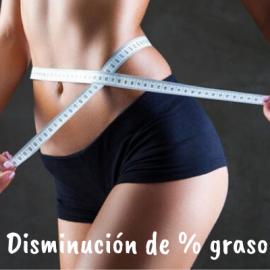 Disminución de % graso